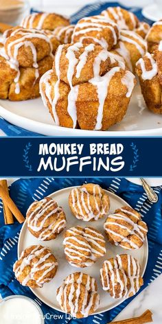 Monkey Bread Muffins - the homemade dough rolled in cinnamon sugar makes these sweet pull apart bites taste so good. Great recipe to make for breakfast or brunch. Best Breakfast Casserole, Best Breakfast Recipes, Breakfast Bake, What Is Monkey Bread, Monkey Bread Muffins, No Bake Desserts, Easy Desserts, Dessert Recipes, Cinnamon Sugar Muffins