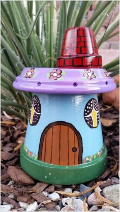 Garden Gnome House made from Clay Pots...these are awesome Garden & DIY Yard Ideas!