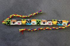 Somebody stole my idea and made a roosterteeth friendship bracelet!  I want one!  Now why don't people ever post how to make these?!