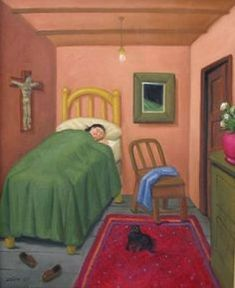Fernando Botero woman with cat
