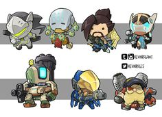 Tiny Overwatch Group 02 by KevinRaganit on DeviantArt 2d Character, Fantasy Character Design, Character Drawing, Chibi Overwatch, Overwatch Memes, Chibi Characters, Video Game Characters, Zbrush, Junkrat And Roadhog