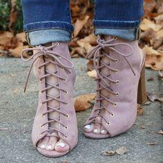 Mauve Chunky Heels