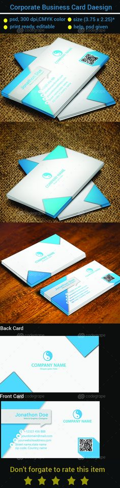 Modern and Corporate Business Card - http://www.codegrape.com/item/modern-and-corporate-business-card/7004