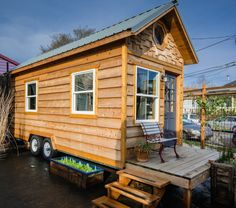 Tiny house hotel in Portland
