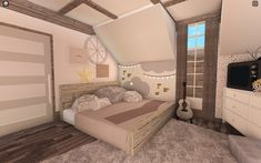 Two Story House Design, Unique House Design, Home Building Design, Home Design Plans, Building Ideas, House Layout Plans, House Layouts, House Plans With Pictures, Tiny House Bedroom
