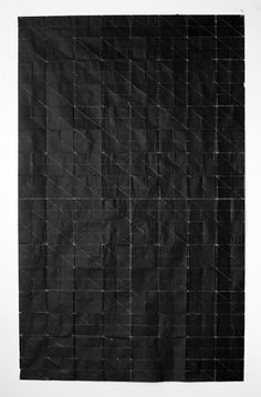 Tapestry - Rain, folded photocopy on paper, 2011, by Niall McClelland