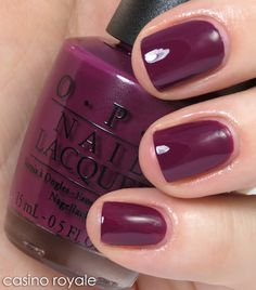 Casino Royale from the OPI James Bond collection.  Pretty purple color.  Should probably wear this one more often.