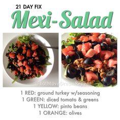 21 Day Fix | Mexi-Salad & Taco Seasoning Recipe