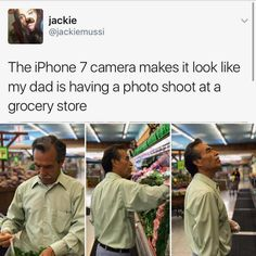 I love how the dad doesn't even notice that she's taking pictures