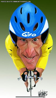 Lance Armstrong caricature design by #DesignerPeople