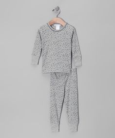 Baby Steps Gray & Navy Moon Pajama Set - Infant, Toddler & Boys