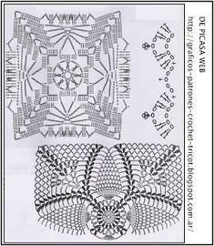 crochet fabric , CROCHET - GANCHILLO - PATRONES - GRAFICOS: ALMOHADONES TEJIDOS A CROCHET CON SU GRAFICO = ALMOHADON A GANCHILLO CON SU ESQUEMA