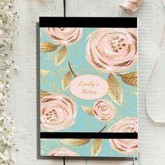 Notepad - Aqua Rose