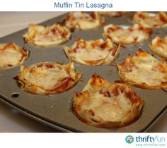 These muffin tin lasagnas are so yummy and makes great small portions that can easily be frozen and reheated too. They can easily be customized for picky eaters.