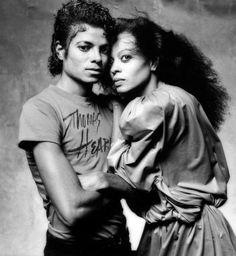 Diana Ross & Michael Jackson.
