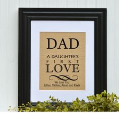 Father Gift, FRAMED Father Gift, Dad birthday gift, I Love You Dad, You're the best Dad, Awesome Father gift, Special gift for Dad, by BlessedHomesteadShop on Etsy
