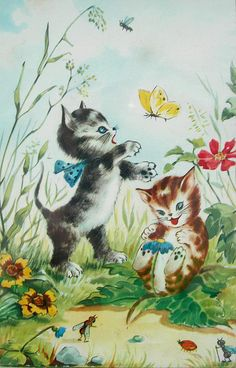 Vintage cats by rosaperfecto, via Flickr