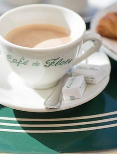 Morning coffee at the famous Cafe de Flore in Paris.