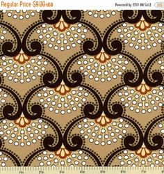 ON SALE - 10% Off Windham Fabrics Whistler Studios Light Brown Damask Quilting Apparel Fabric BTY