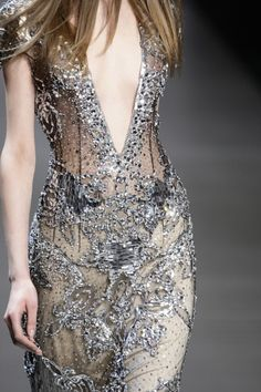silver shimmer dress