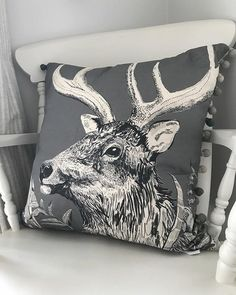 Afternoon! Can't believe where today is disappearing to already.....I have just spent all morning packaging your lovely orders from yesterday. I have now got two of these Stag cushions left - £45 each plus postage xx