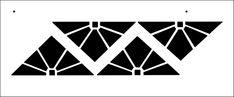 Art Deco stencil from The Stencil Library BUDGET STENCILS range. Buy stencils online. Stencil code BB19.