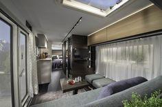 Best Caravan for Seasonal Siting: Adria Astella Large Kitchen Design, Luxury Caravans, Living Area, Living Spaces, Best Caravan, Caravan Salon, Loft, Luxury Accommodation, Indoor Outdoor Living