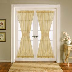 Curtains for french door
