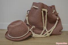 Шляпы и сумка-рюкзак из рафии