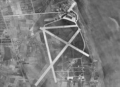 Kastrup Airport, Copenhagen. Aerial view 1954