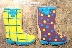 Rainboots cookies