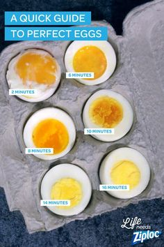 No more guessing. Follow this easy guide to get perfect boiled eggs, every time. Great to have on hand when hard boiling for deviled eggs or soft boiling eggs for ramen. Tip: Use eggs that are about a week old. They'll be easier to peel after cooking.: