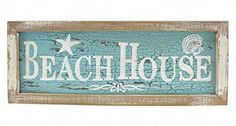 Beachcombers Framed Beach House Painted Wood Wall Plaque 15 Inch Distressed Blue and White - Beachfront Decor Beach Cottage Style, Beach House Decor, Home Decor, Beach Condo, House Painting, Painting On Wood, Beach Signs Wooden, Kindergarten, Painted Wood Walls