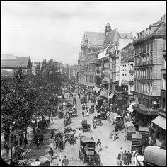 Les halles de Paris en 1900 -