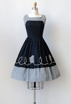 vintage 1950s gingham party dress | Gardner Gingham Dress ★★
