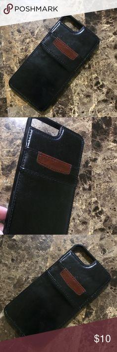 Black Wallet iPhone 7 Plus Case Good Used Condition iPhone Wallet Phone case  Color black and brown iPhone 7 Plus Accessories Phone Cases
