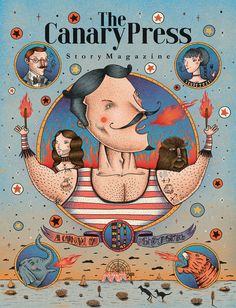 This is the illustration cover for the issue 10 of the Canary press, its been 3 amazing years working for this magazine; we want to recreate a freak carnival in the Australian dessert, hope you enjoy this cover and all the stories inside of this lovely ma…