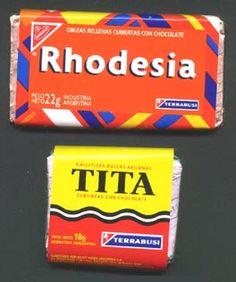 Golosinas clásicas: Rhodesia y Tita Recuerdos de mi infancia.