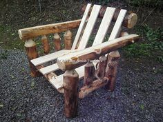 Aspen Log Futon Chair..purchased with or without mattress...ottoman + chair reclines into a single bed... (814) 257-8911 or facebook at Old Farm Amish Furniture for a complete line of rustic log amish made furniture in aspen, sassafras, hickory, peeled pine, cedar and more :)