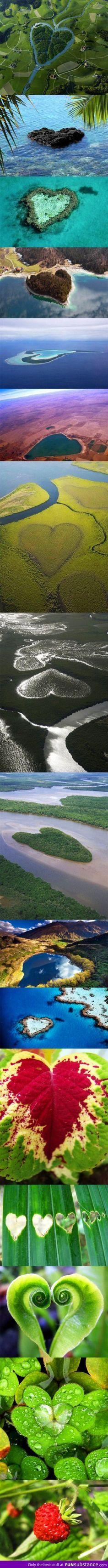 Cuando miras esta foto logras ver la belleza de nuestro planeta. Desde ifeel maps te invitamos a cuidarlo y disfrutarlo con conciencia.  visitamos en  www.ifeelmaps.com Formas de corazón en la Naturaleza / Heart shapes in nature