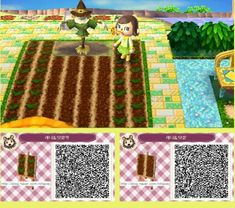 acnl patterns: garden/farm perfect for my farmer side chara Lou :o