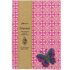 butterfly applique journal from Paperchase