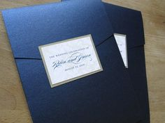 Classic navy wedding invitation  ... Wedding guide for brides & grooms, bridesmaids & groomsmen, parents & planners ... the how, when, where & why of wedding planning ... https://itunes.apple.com/us/app/the-gold-wedding-planner/id498112599?ls=1=8  ♥ The Gold Wedding Planner iPhone App ♥