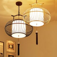 (118.00$)  Know more - http://aiu4n.worlditems.win/all/product.php?id=32787892853 - The new Chinese Restaurant Hotel antique pendant lamp iron cage cage Lamp Retro creative restaurant birdcage