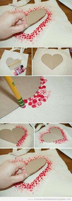 valentine fabric crafts DIY Cards for Kids Polka Dot Heart Card - 38 DIY Motherday Gifts Easy To Make Ideas Diy Pour Enfants, Diy Mothers Day Gifts, Mothers Day Ideas, Morhers Day Gifts, Mothers Day Crafts For Kids, Mothers Day Cards, Heart Crafts, Heart Diy, Heart To Heart