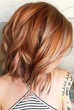 Trendy Hair Color Fall Ombre Rose Gold - All For Hair Color Trending Hair Color Auburn, Auburn Hair, Red Hair Color, Hair Color Balayage, Blonde Color, Hair Highlights, Copper Highlights, Color Red, Copper Balayage