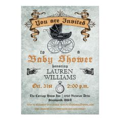 402 best halloween baby shower invitations images on pinterest vintage baby shower invitation filmwisefo