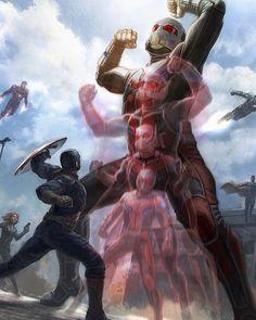 Guerra Civil - Revelada mais uma arte conceitual do Gigante no filme! - Legião dos Heróis