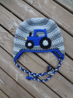 **This listing is for a pattern only, NOT a finished product** This pattern includes individually written instructions for you to make a Tractor Hat in three sizes (age/hat circumference): Toddler – 17.5 Child - Pre-teen – 19 Teen/Adult - 21 All my patterns are written in American crochet terminology. Skill Level: Easy/Intermediate You will require worsted weight (medium/4/aran) yarn and crochet hooks 6mm (US I), and 4.5mm (US F). For yarn, I love Loops & Threads 'Impeccable'. You ...