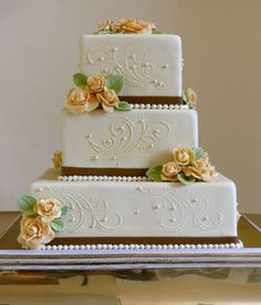 scroll square  Wedding Cake by The Couture Cakery, via Flickr